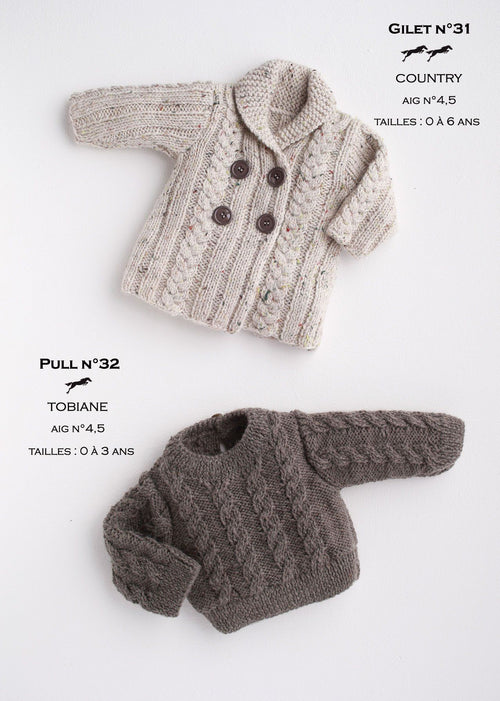 Free Cheval Blanc pattern - Child's vest cat.17-31