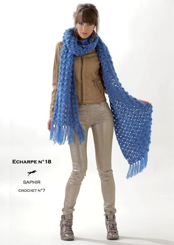 Free Cheval Blanc pattern - Scarf cat.19-18