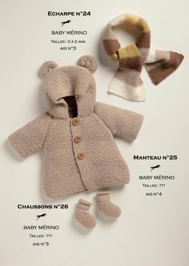 Free Cheval Blanc pattern - Baby booties cat.19-26