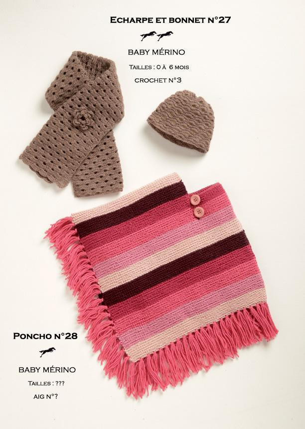 Free Cheval Blanc pattern - Poncho for girl cat.19-28