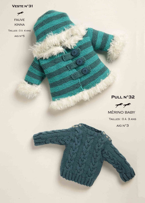 Free Cheval Blanc pattern - Sweater for baby cat.19-32