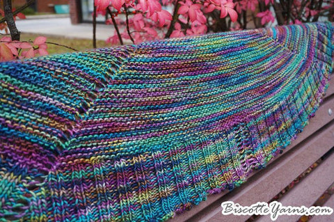Biscotte's Shawl Knitting Game - A knitting that is played with dice!