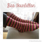 Sock pattern Bas Tourbillons - Biscotte yarns