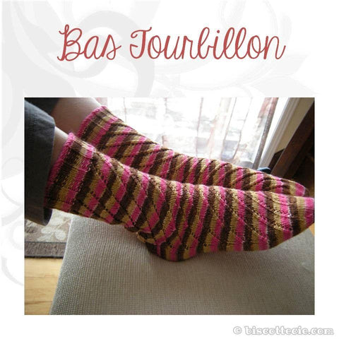 Sock pattern Bas Tourbillons