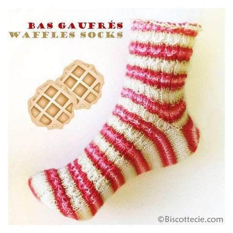 Waffles sock pattern