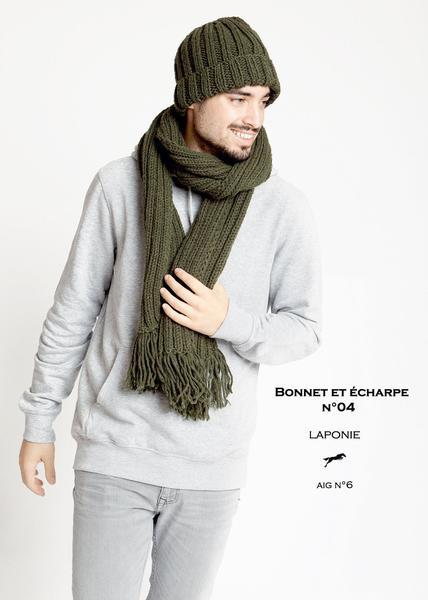 Cheval Blanc pattern Cat. 29-04 - Bonnet and scarf