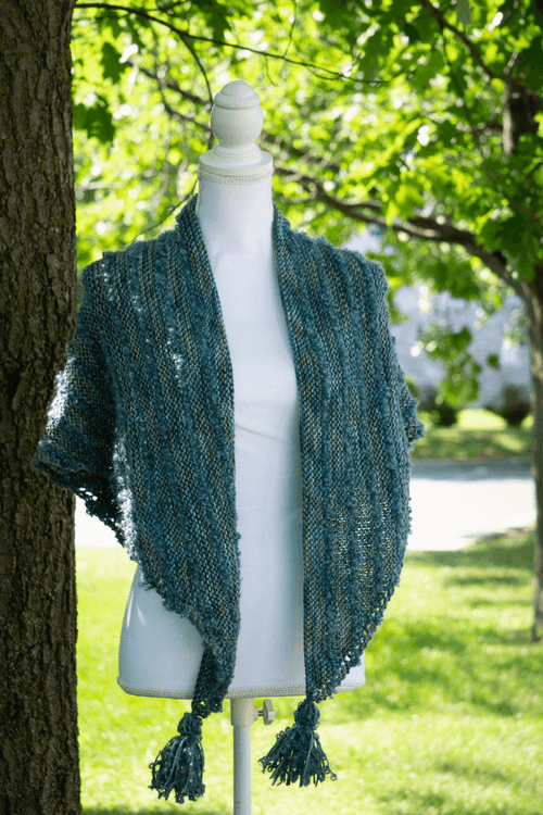 ''Boucles à l'Horizon'' Shawl | Free Knitting Pattern