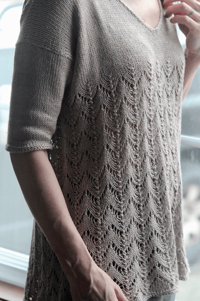Grace Silk Tee | Free Knitting Pattern