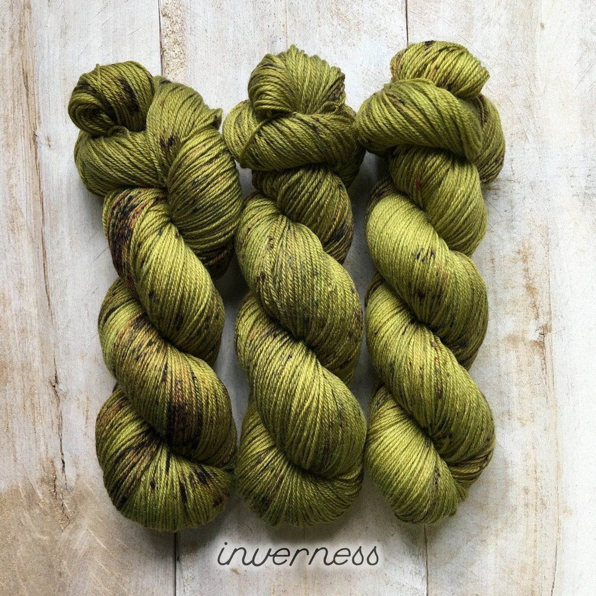 INVERNESS by Louise Robert Design | SUPER SOCK hand-dyed speckled yarn