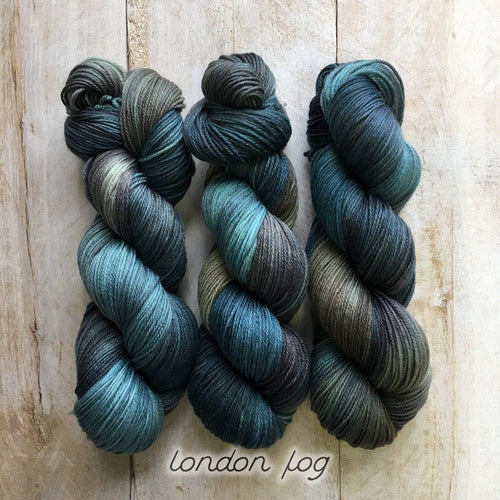 LONDON FOG by Louise Robert Design | SUPER SOCK hand-dyed Variegated yarn