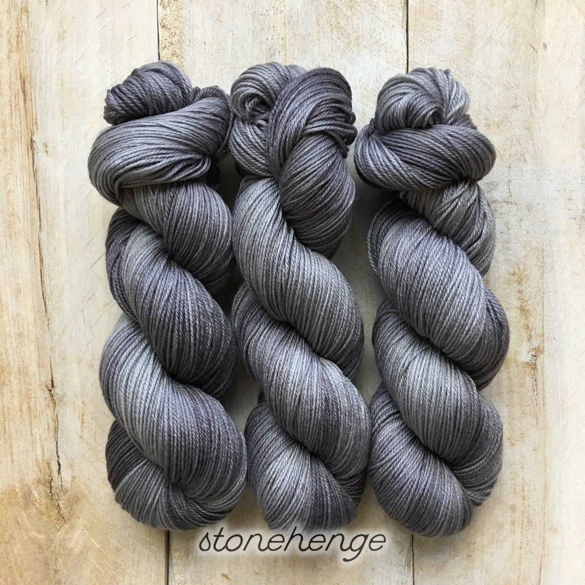 STONEHENGE by Louise Robert Design | SUPER SOCK hand-dyed semi-solid yarn