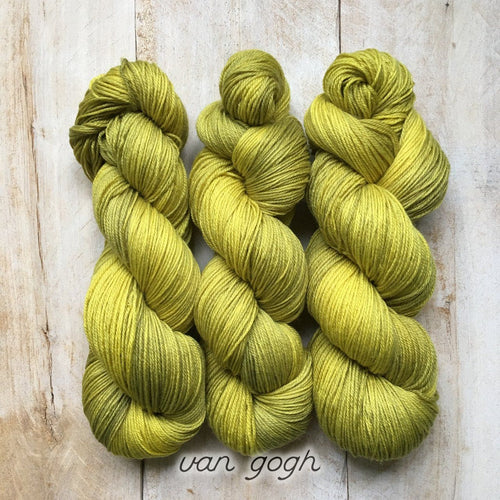 VAN GOGH by Louise Robert Design | SUPER SOCK hand-dyed semi-solid yarn