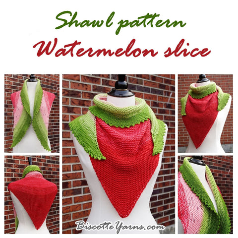 Shawl pattern - Watermelon Slice Shawl