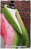 Shawl pattern - Watermelon Slice Shawl - Biscotte yarns  - 8