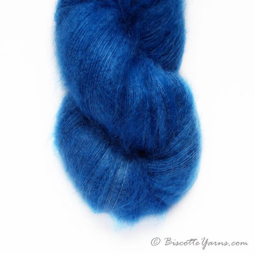 Hand-Dyed Kid Silk Yarn | Hermione DENIM  | 50g