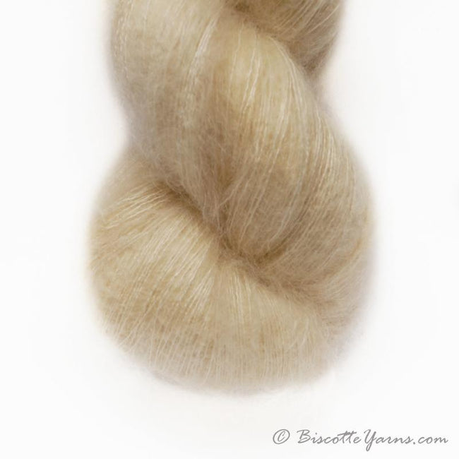 Hand-Dyed Kid Silk Yarn | Hermione VANILLE | 100g or 50g
