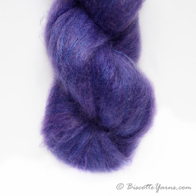 Hand-Dyed Kid Silk Yarn | Hermione VIOLETTE   | 100g or 50g