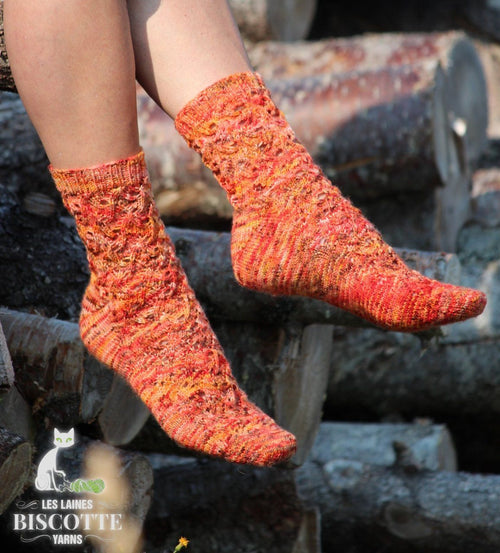 Flames of Bonfire Socks Pattern