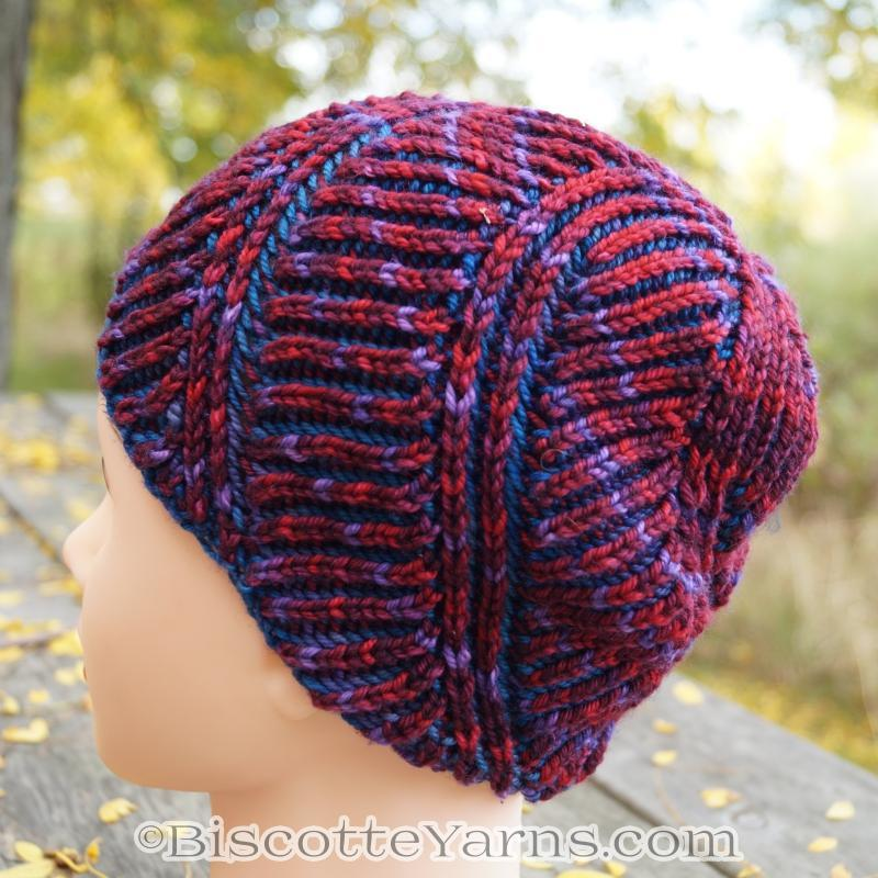 Hat Knitting Pattern | Spiral Brioche Hat