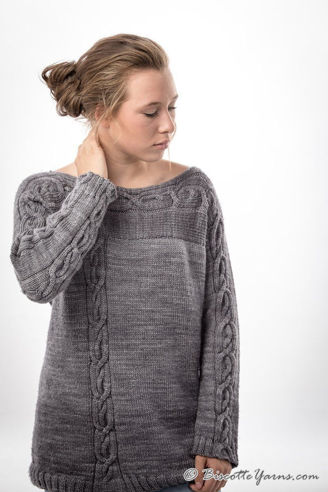 Knitting pattern ♥ Belle Lurette sweater - Biscotte yarns