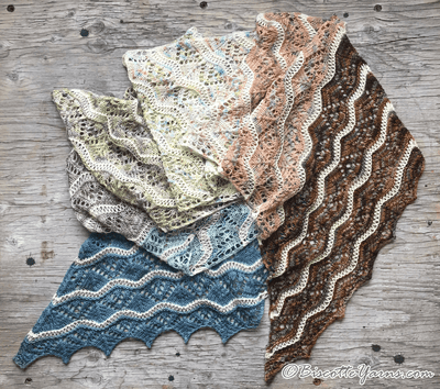 shawl pattern vague de couleurs