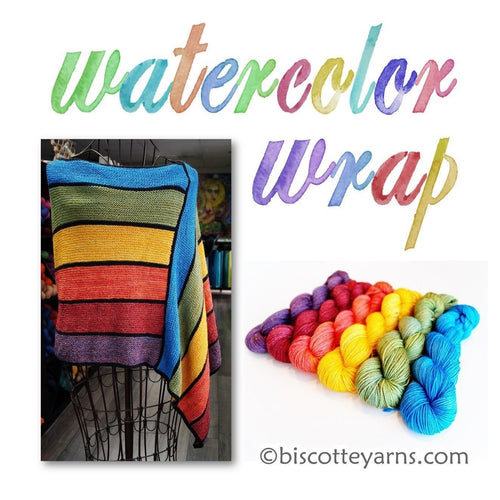 Watercolor Wrap pattern - Biscotte yarns