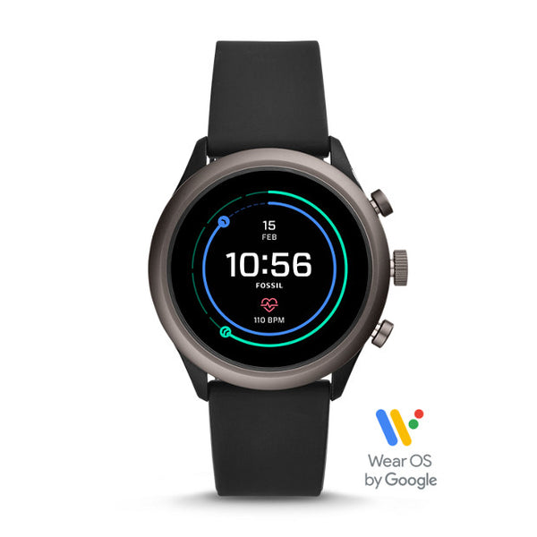 FOSSIL Sport Smartwatch - Black Silicone (43MM)