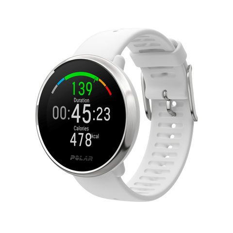 POLAR Ignite (White/Silver - Small) for ChooseHealthy