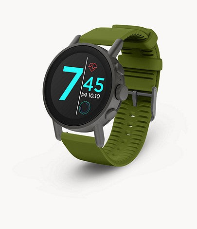 MISFIT Vapor X Gunmetal (Green Silicone Strap) for ChooseHealthy