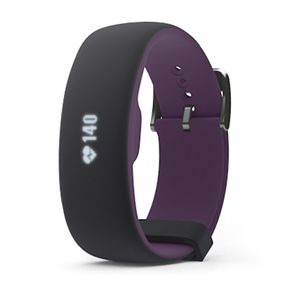 iFIT Axis HR Fitness Tracker - Black/Plum (Small/Medium)