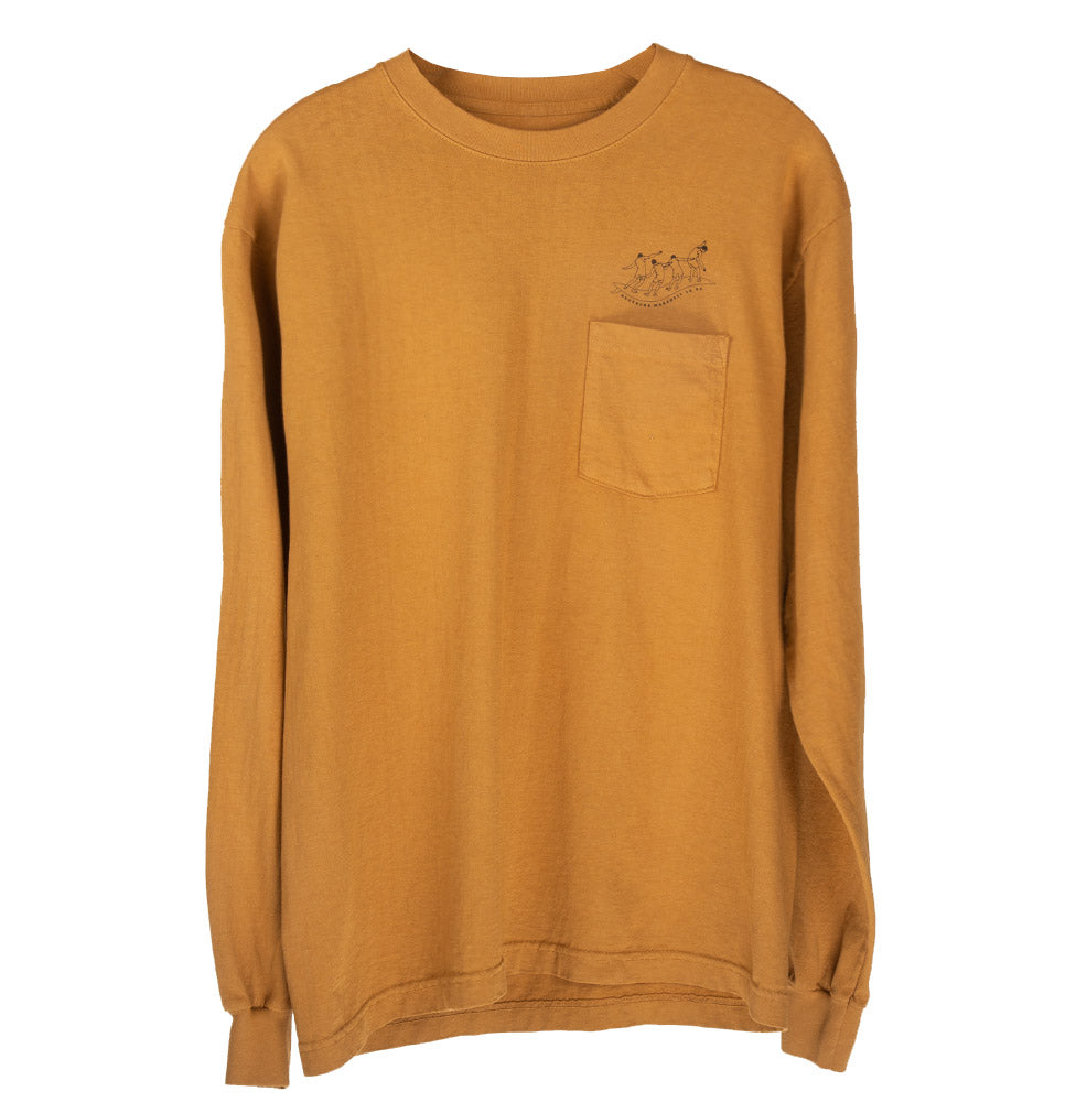 LESSONS POCKET LS TEE (GOLDEN BROWN)