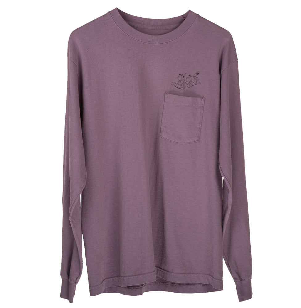 LESSONS POCKET LS TEE (DEEP LAVENDER)