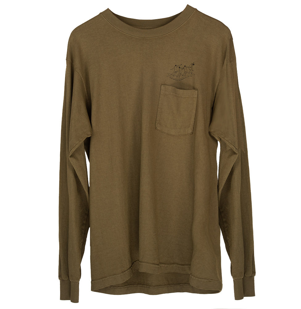 LESSONS POCKET LS TEE (OLIVE)