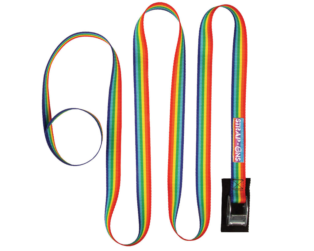 RAINBOW STRIPE STRAP ONS (SET OF TWO)