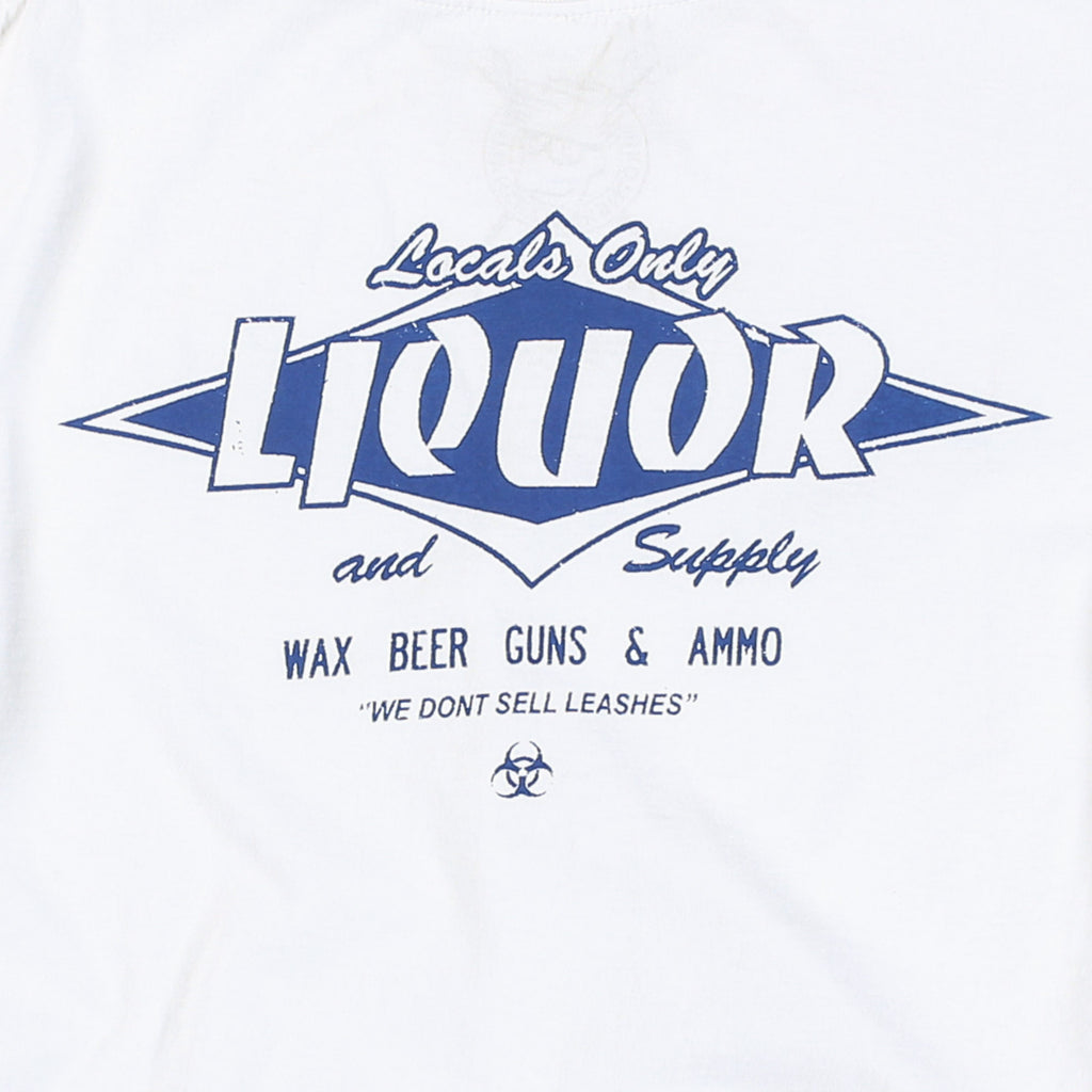 Locals Only Liquor Tee (White/Atlantic)