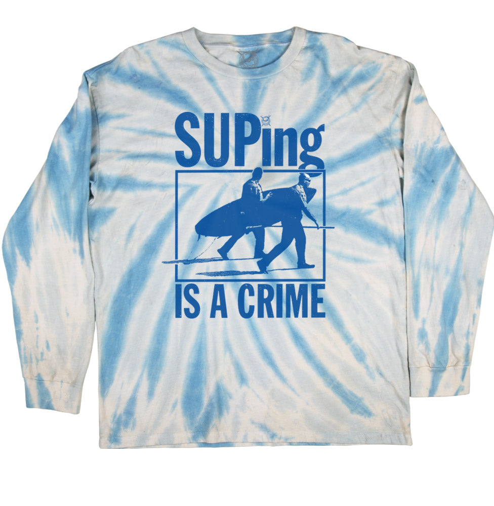 SUP CRIME L/S (LIGHT BLUE TIE DYE)