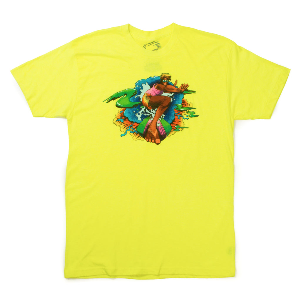 Hang 5 Tee (Neon Yellow)