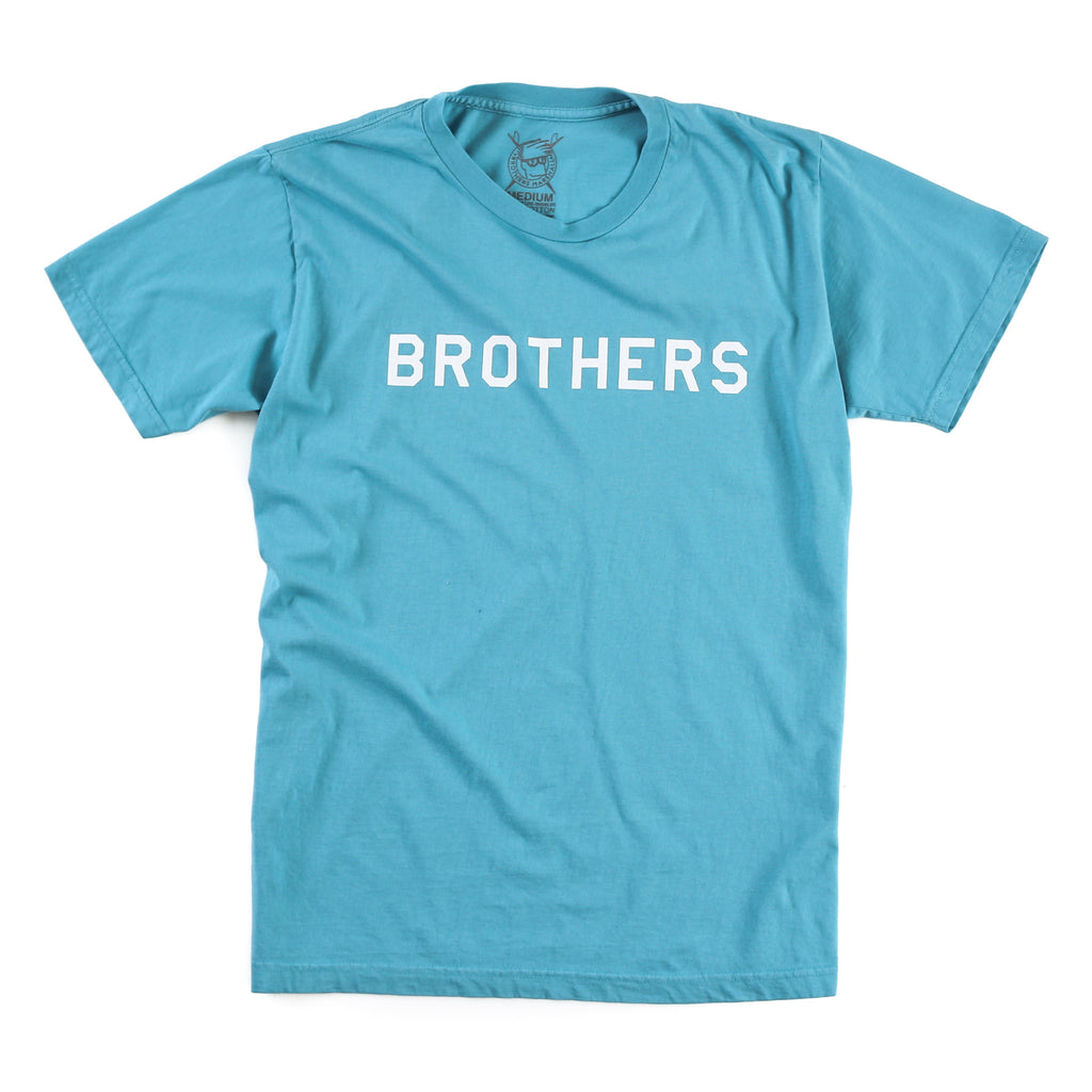 Brothers Stencil Tee (Teal)