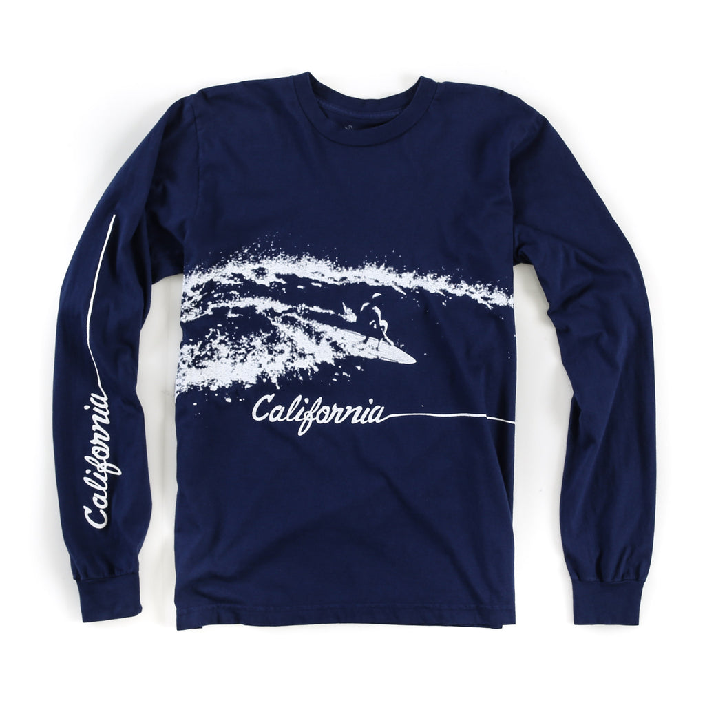 Cali Long Sleeve Tee (Navy)
