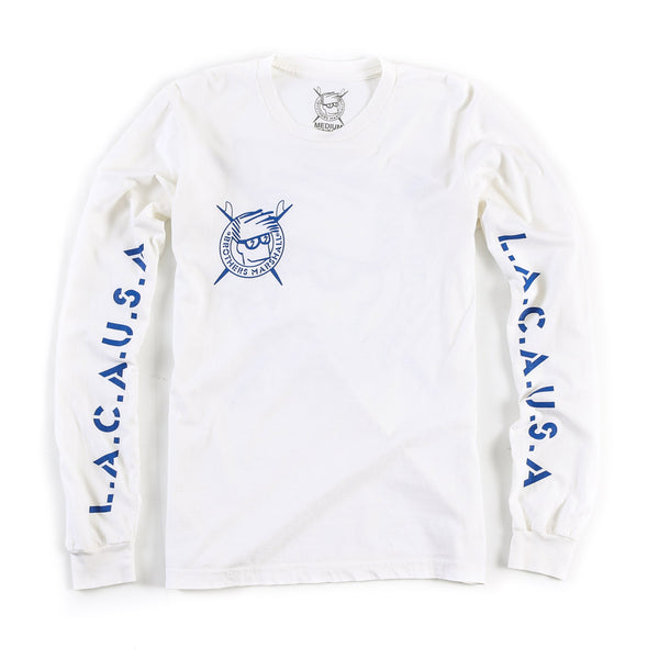 Single Boardhead Long Sleeve Tee (White)
