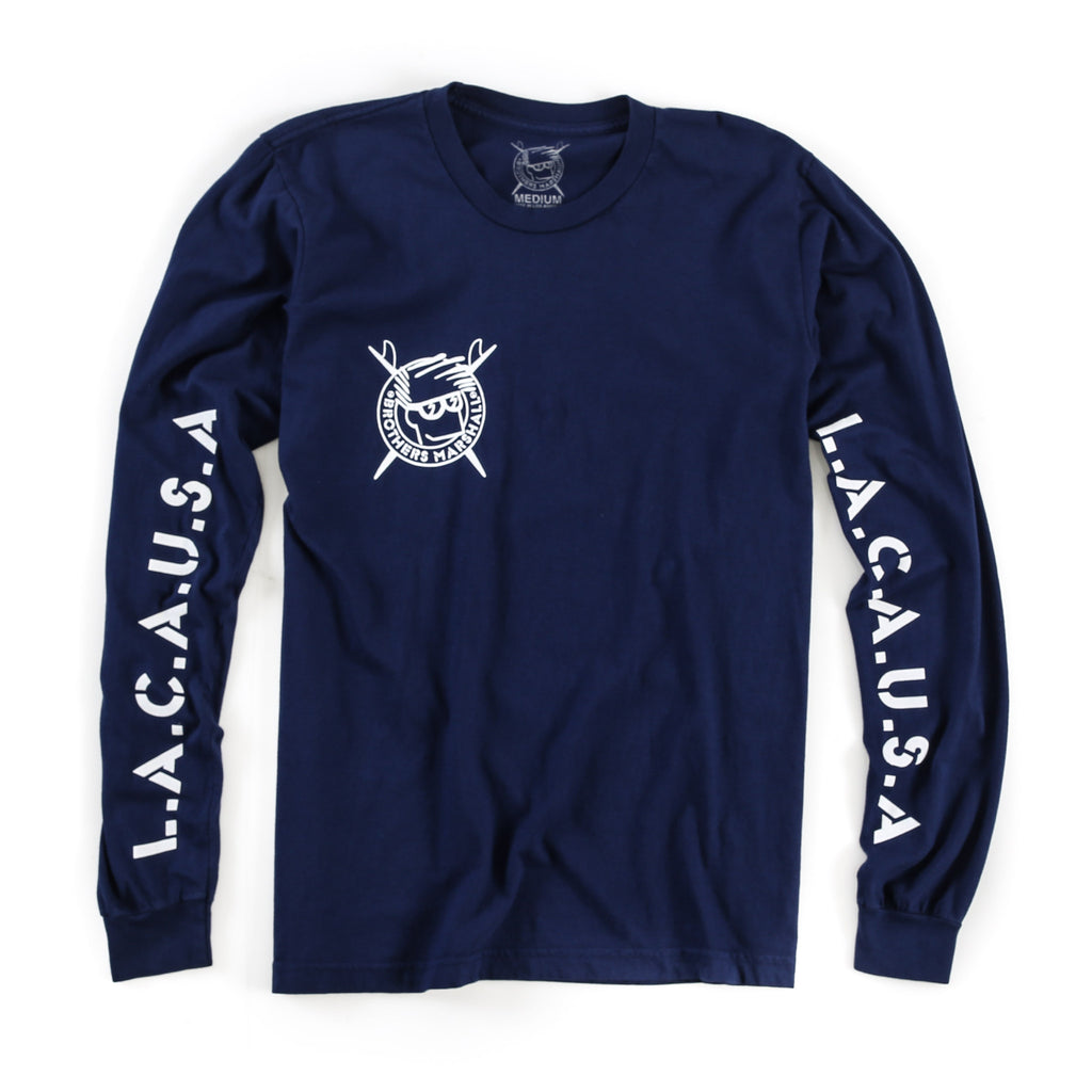 Single Boardhead Long Sleeve Tee (Navy)