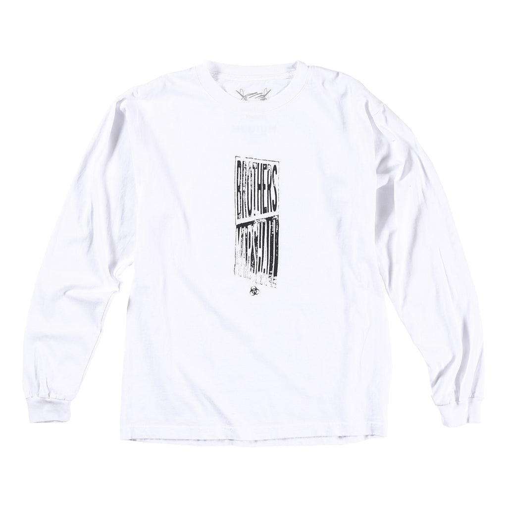 Distort Bro Long Sleeve Tee (White)