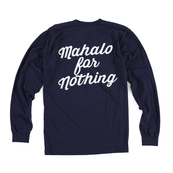 Mahalo Long Sleeve Tee (Navy)