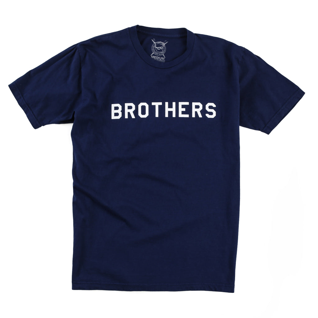 Brothers Stencil Tee (Navy)