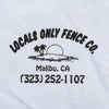 Locals Only Fence Co. Tee (Light Blue)