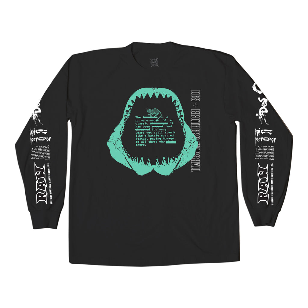 BRO X DES RAW LONG SLEEVE BLACK