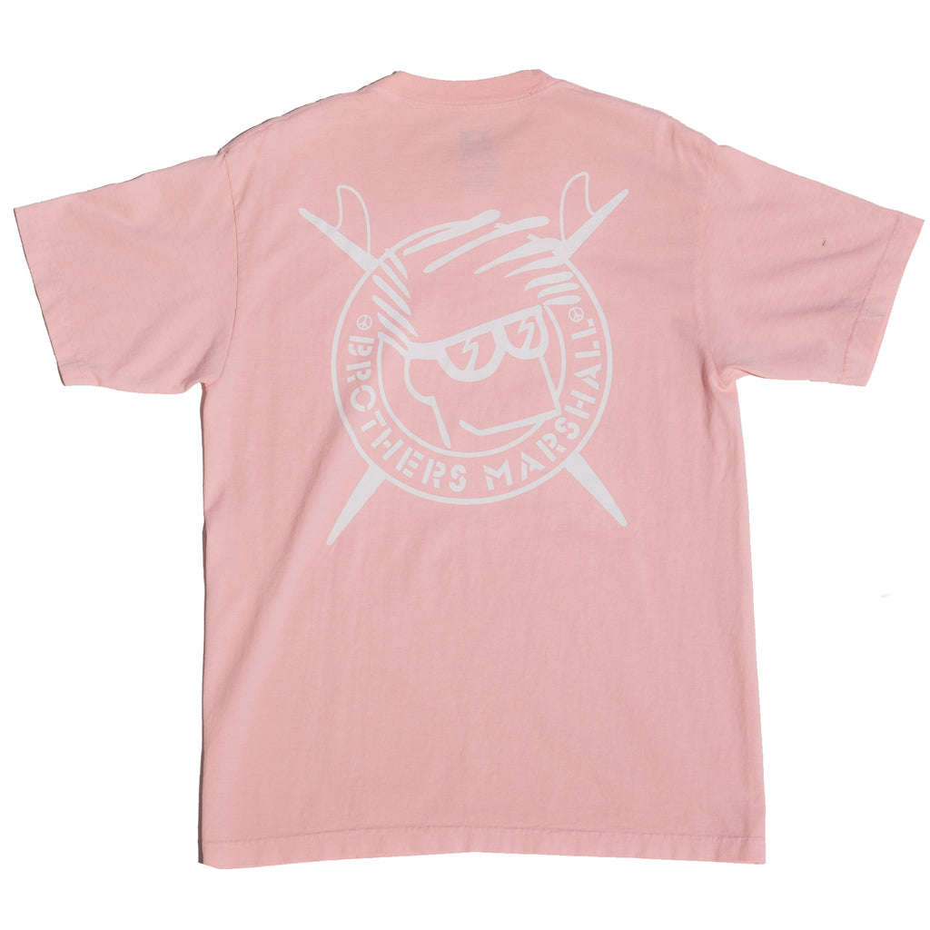 BOARD HEAD TEE OVER DYED SWEET PEACH