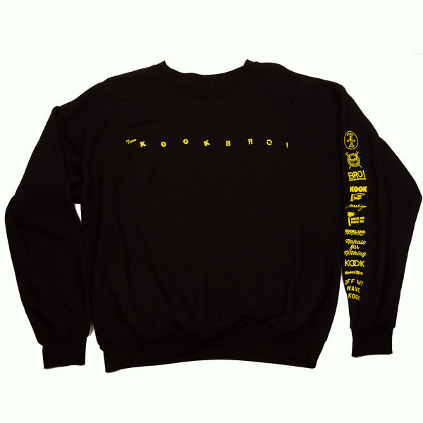 TEAM KOOK BRO! CREW NECK  (BLACK)