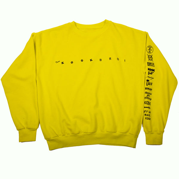 TEAM KOOK BRO! CREW NECK (YELLOW)