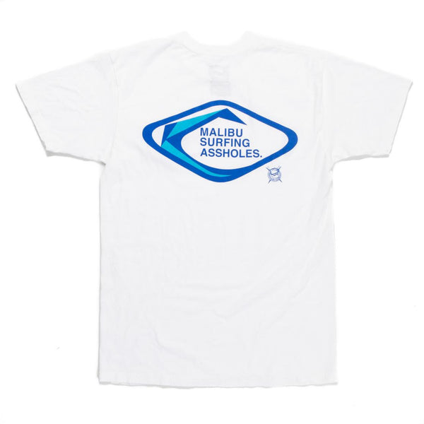 Malibu Surfing Assholes Tee (White)